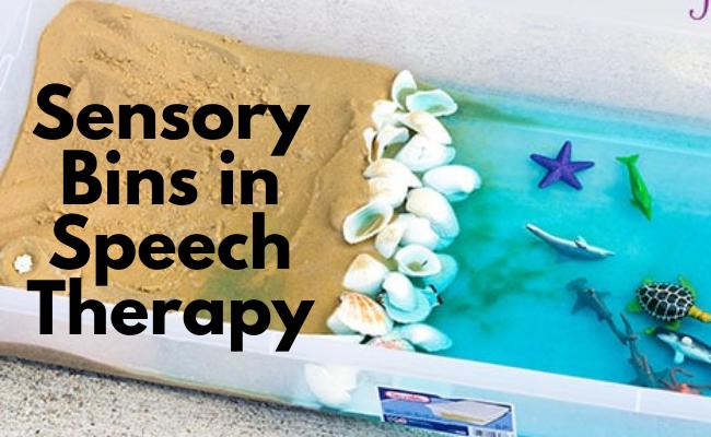 Sensory Bins in Speech Therapy